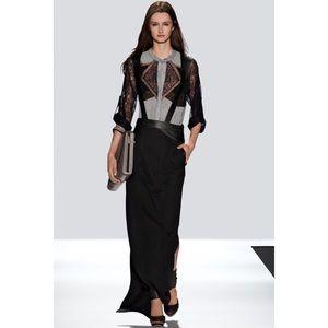 "BCBG RUNWAY ""Inga"" Leather Maxi Skirt Dress"